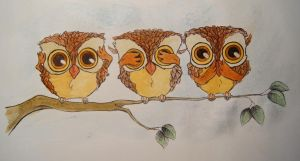 Owls by BettyNobs