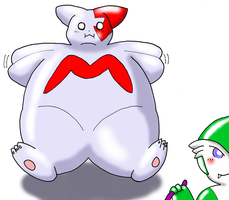 Inflated Gardevoir Gardevoir inflates Zang by