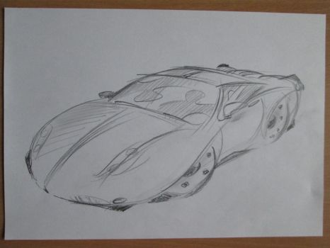 Quick car sketch by SAVAPER