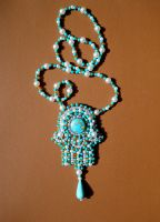 Hamsa beaded necklace by AniDandelion by AniDandelion