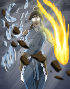 The Legend of Korra by dimensioncr8r