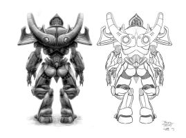Protoss Zealot - Back by AncientSources
