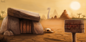 DAY 99. Caveman Storyboard BG (35 Minutes) by Cryptid-Creations