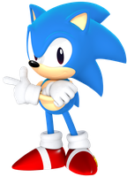 Classic Sonic from the Sonic Mania Poster by JaysonJean