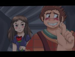 Wreck-it Ralph and Nora by Agi6