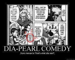 Motivational: Dia-Pearl Comedy by TheMangaWitch