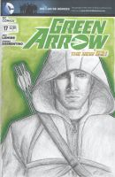 Green Arrow Sketch Cover by halwilliams