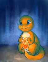 Charmander wants to keep warm by sterrebloem