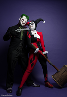 Joker and Harley Quinn - Two of a Kind by Enasni-V