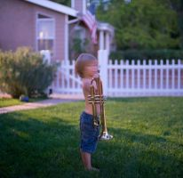 Boy with a Horn by myrnajacobs