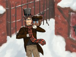 Markiplier Christmas carol by Bridgeotto