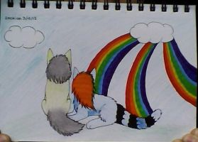 Triple Rainbow .:CO:. for BlueBerrytail by Lockian