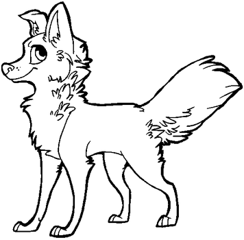 free dog lineart [MS Paint friendly] by xSitax