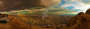 Damascus Top View IV by ashamandour