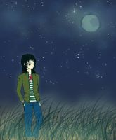 Taking A Stroll at Night by Cei-08