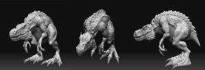 monster zbrush by adamlawrence
