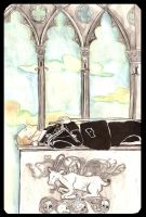Heydrich tarot: Four of Swords by hello-heydi