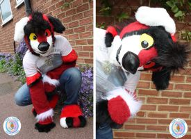 Dog Partial Fursuit SOLD by Made4Hugging