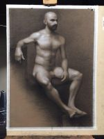 Life Figure Drawing by kelch12