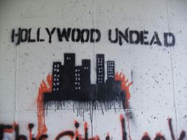Hollywood Undead burning by Wolfriderxangel