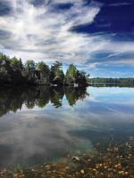 Abrams Pond Mirror by chilihook