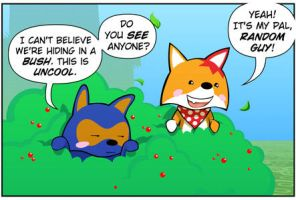 Rocket Fox 8 Panel 1: Floating Away by StacyKing