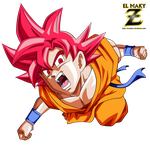 Goku FNF Super Saiyan God by el-maky-z