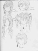 Vampire Knight hair- Part 1 by RikaYoru