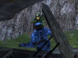 RvB: Caboose meets his match by JonMan94