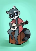 Banjo Jam by CandyBeeArts