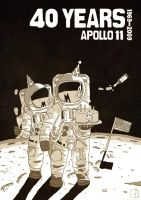 40 Years Apollo 11 by Fleischparade