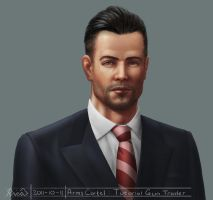 Arms Cartel: in-game portrait of arms dealer by RicoD-DA
