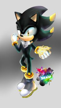 comision 3D for arturo hedgehog by andreaplayed12