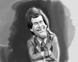 David Letterman WIP by DoodleArtStudios