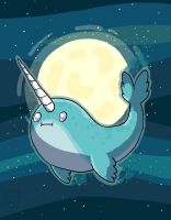 space narwhal by go-ccart