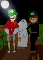 Halloween night with Boo and Mr. L by Fanny-CM