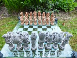 Gargoyle Chess Pieces by littleme1969