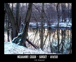 Neshiminy Creek_Sunset_Winter by Shadsie