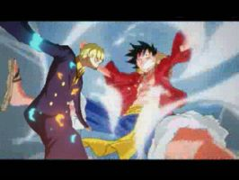 sanji kicking luffy -animation- by muslu