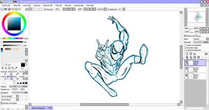 Drawing a Spiderman by Rheiz