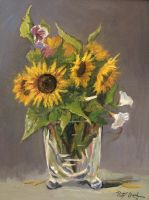 Sunflowers in the glas vase by Dreamnr9