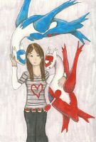 Laura, Latios, Latias by aluress