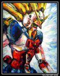 Nobel Gundam in Action 1 by Nidaram