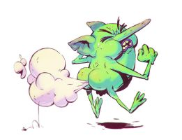 Deadly Goblin Butt Gas by tom-monster