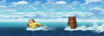 Pedobear water chase by TakeruDavis