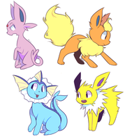 eeveelutions are so majestic by Milkii-Ways
