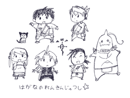 fma chibi doodles by rockinrobin