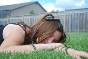 Laying in the Grass 2 by dawnleapord