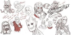 Guardians of the Galaxy sketches by pencilHeadno7