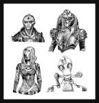 ME2 Sketches by ravenwing136